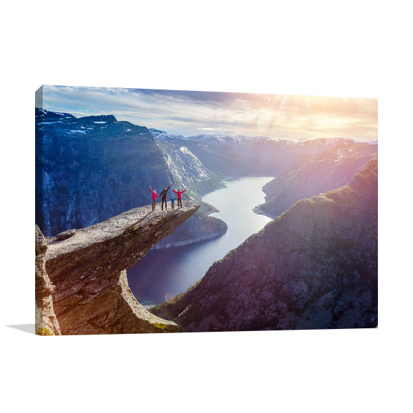 Trolltunga Wall Canvas In Wall Decorations Living Room