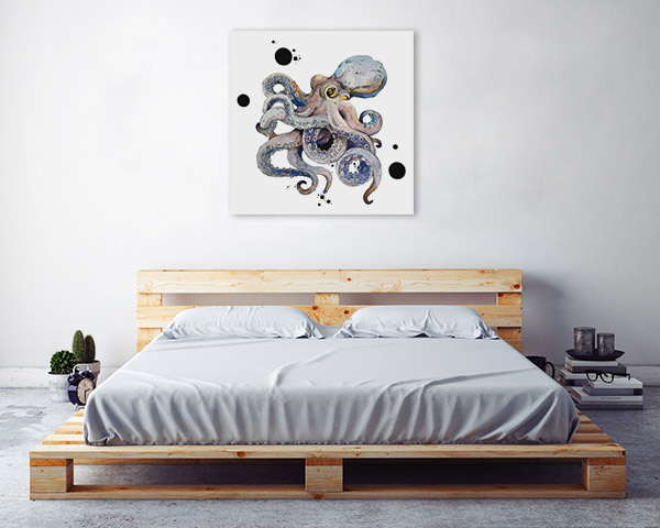 Octopus Watercolour Canvas Wall Art
