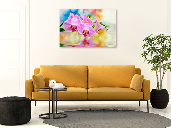 Orchid Watercolour Background Wall Picture