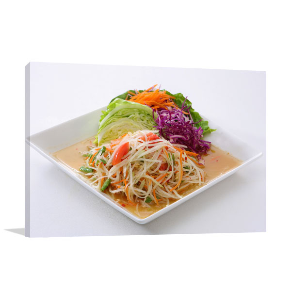 Papaya Salad Artwork Canvas