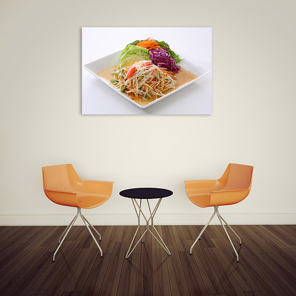 Papaya Salad Wall Canvas