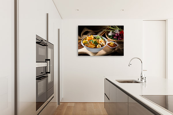 Penang Laksa with Egg Picture Print