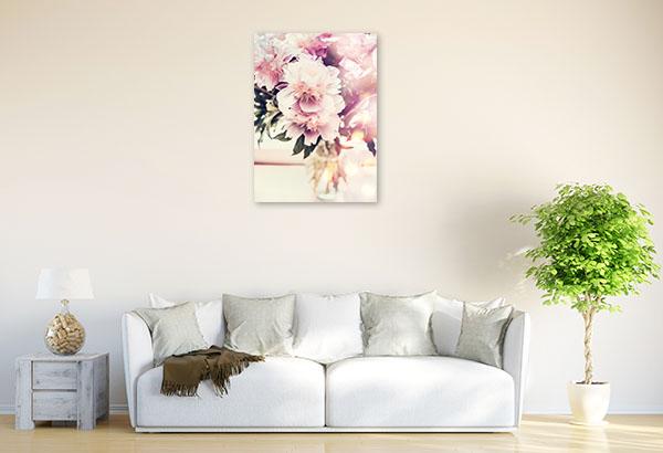 Peonies on Vase Picture Art