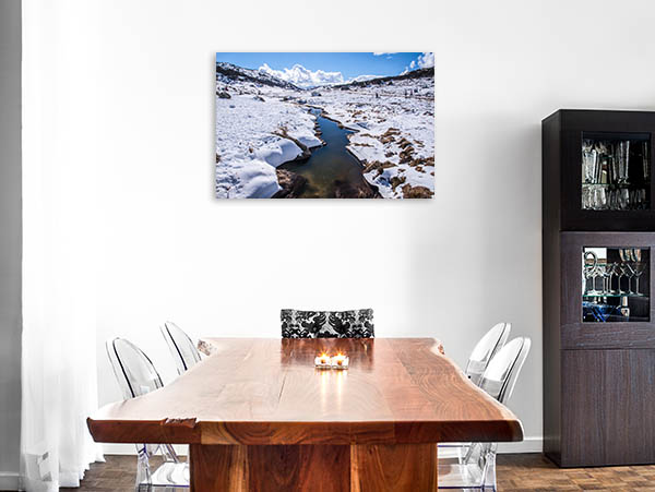 Perisher Blue Art Print Snow Mountain Photo Canvas