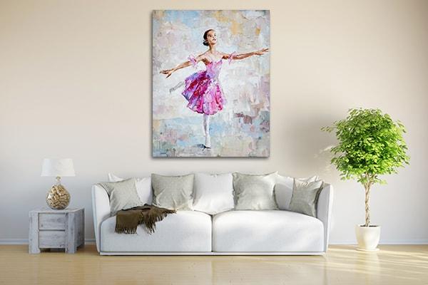 Pink Ballerina Wall Art