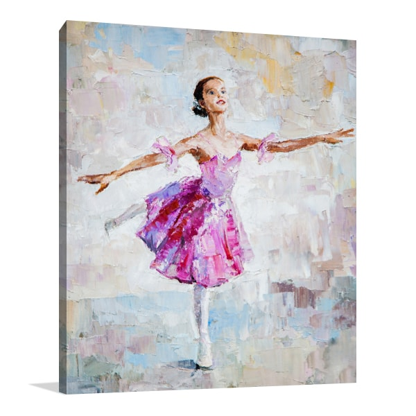 Pink Ballerina Canvas Art