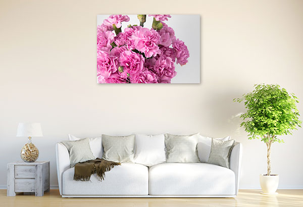Pink Carnations Photo Canvas