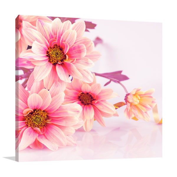 Pink Daisies Canvas Artwork