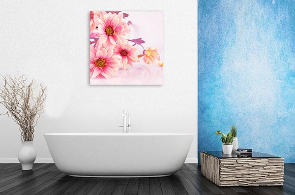 Pink Daisies Print Wall Art