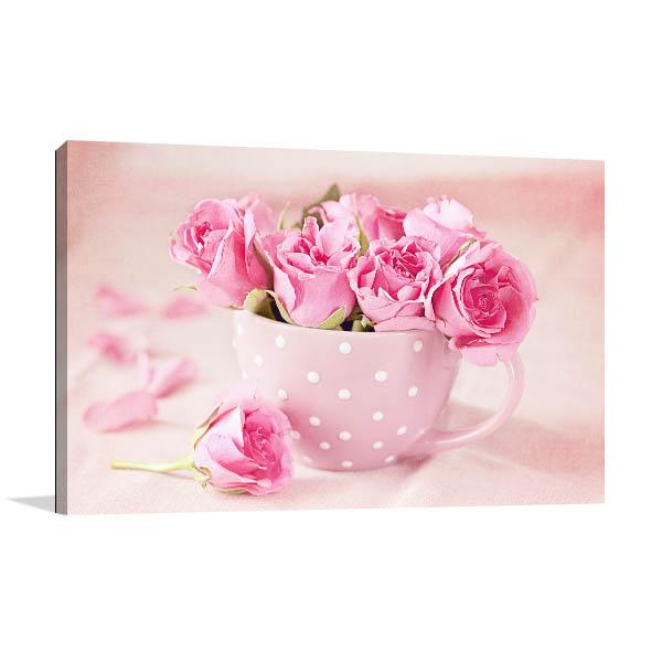 Pink Fresh Roses Canvas Prints