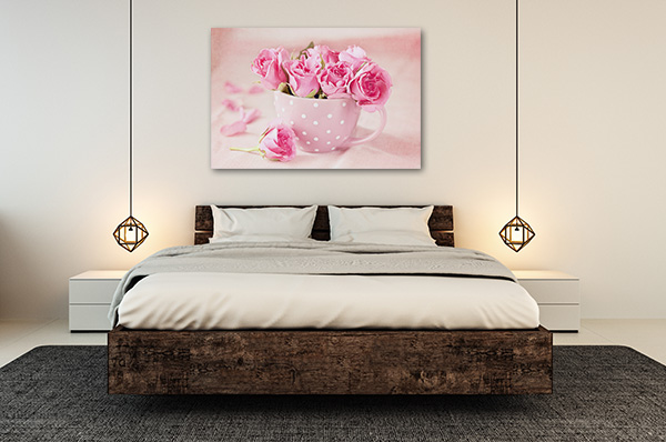 Pink Fresh Roses Prints Canvas