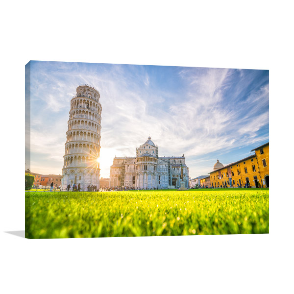 Pisa Art Print Leaning Tower Picture Artwork