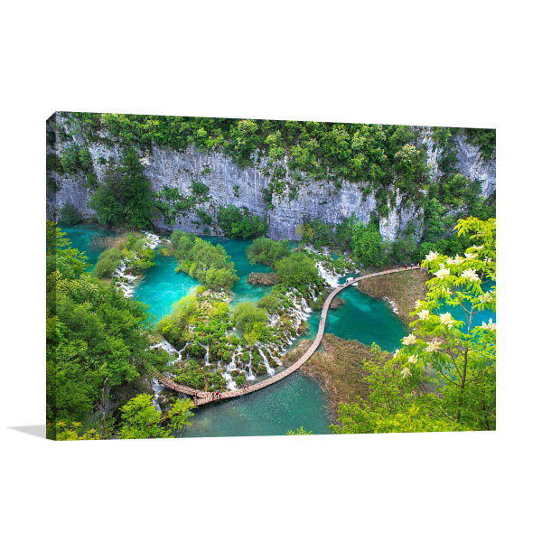 Plitvice Lake Croatia Art Picture