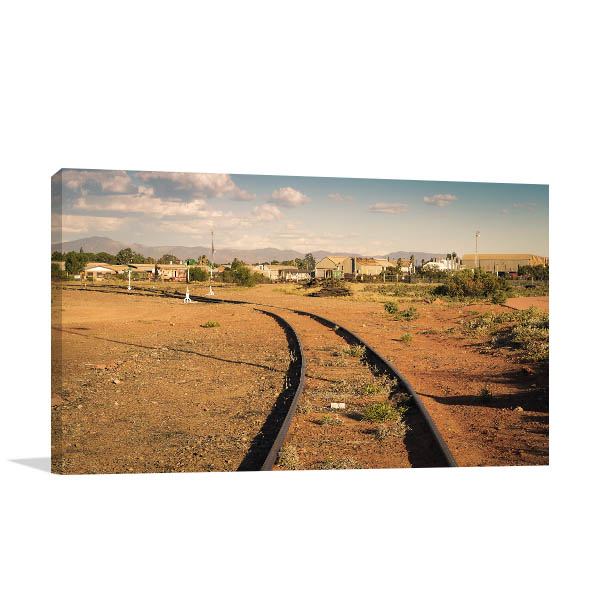 Port Augusta Art Print Rail Tracks Canvas Wall