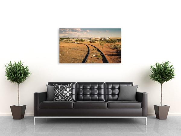 Port Augusta Art Print Rail Tracks Artwork