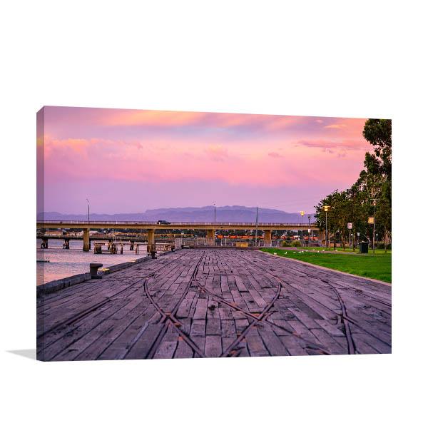 Port Augusta Art Print Sunset Canvas Photo