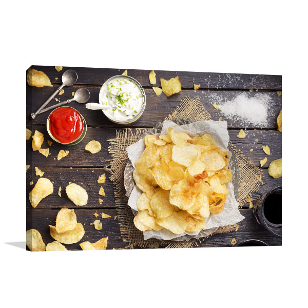 Potato Chips and Dips Print Artwork