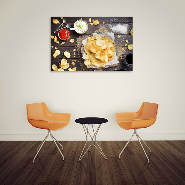Potato Chips and Dips Artwork Canvas