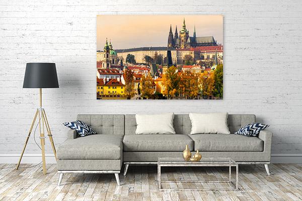 Prague Castle Print Art Canvas