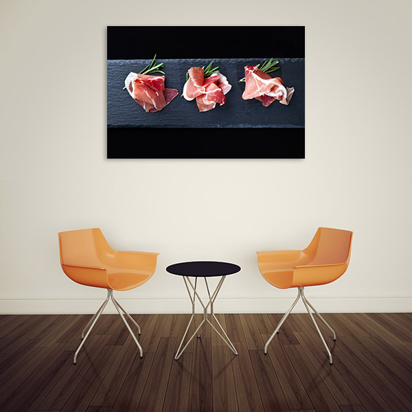 Prosciutto Art Print Top View Picture Wall