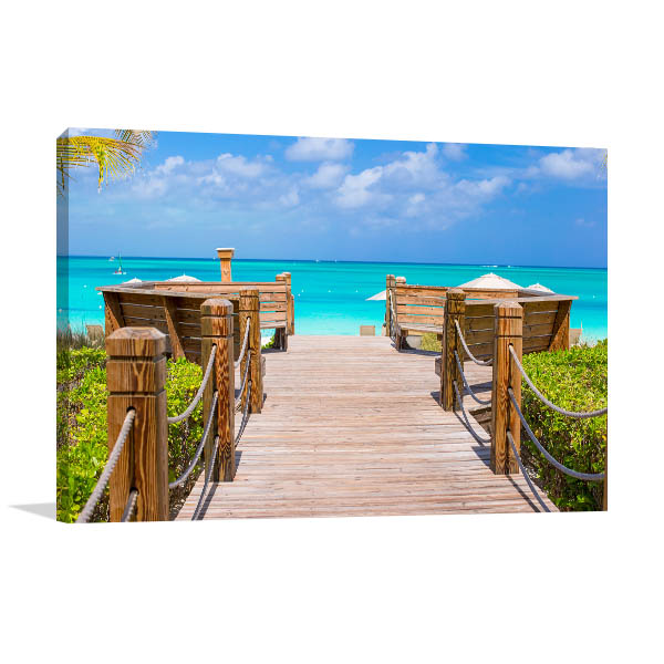 Providenciales Turks and Caicos Canvas Photo