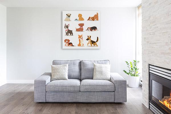 Puppies Illustration Artwork Picture
