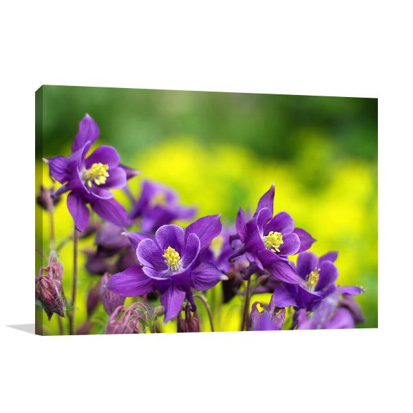 Purple Flowers Wall Canvas