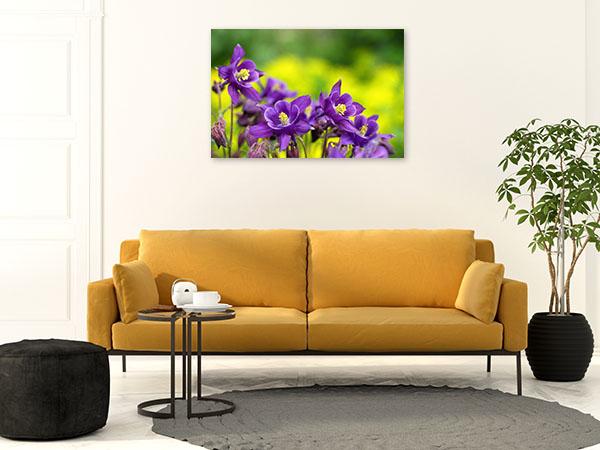 Purple Flowers Print Photo Art