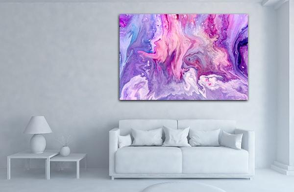 Purple Marble Canvas Art