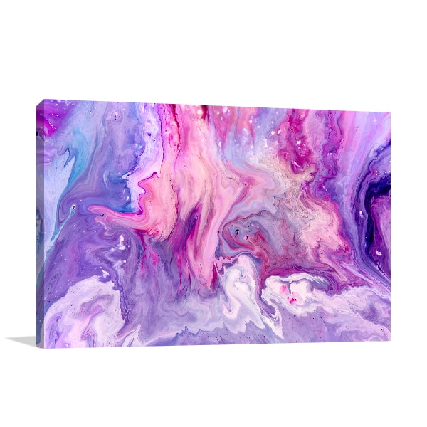 Purple Marble Prints Canvas