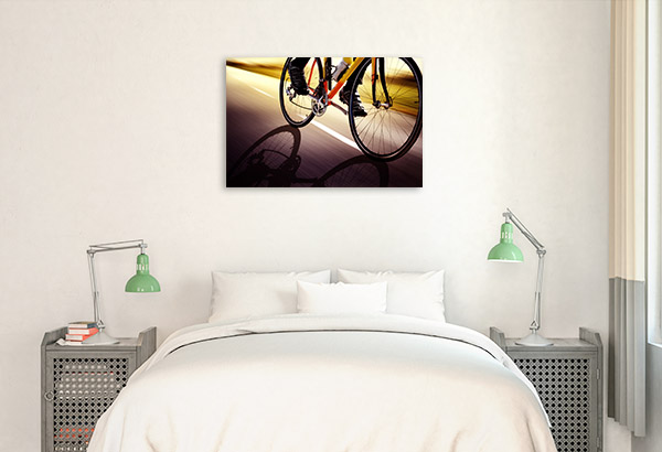 Racing Bike Canvas Artwork