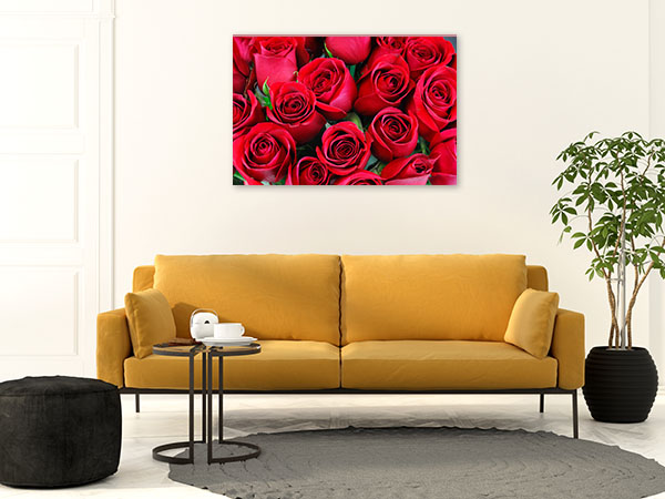 Red Roses Bouquet Photo Art
