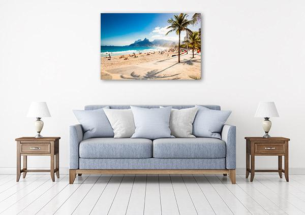 Rio de Janeiro Art Print Ipanema Beach Picture Artwork
