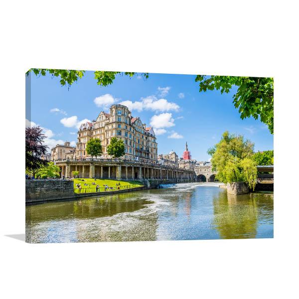River Avon Bath UK Canvas Art Prints