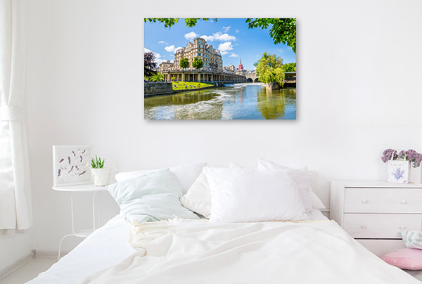 River Avon Bath UK Canvas Photo Print