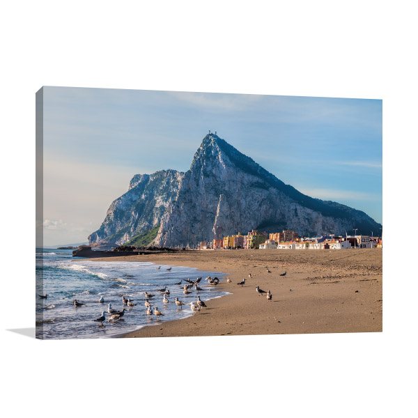Rock of Gibraltar Canvas Art
