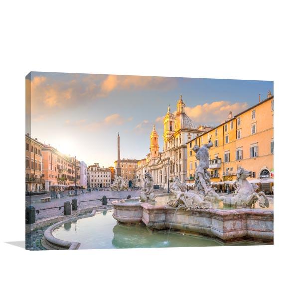 Rome Art Print Piazza Navona Artwork Wall