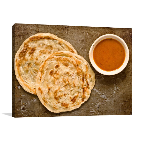 Roti and Curry Print Wall Art