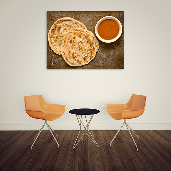 Roti and Curry Canvas Art Prints