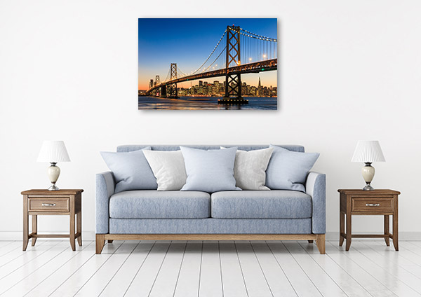 San Francisco Art Print at Dusk Picture Canvas