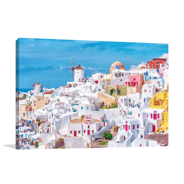 Santorini Art Print Oia Picture Artwork