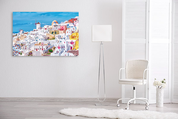 Santorini Art Print Oia Artwork Canvas