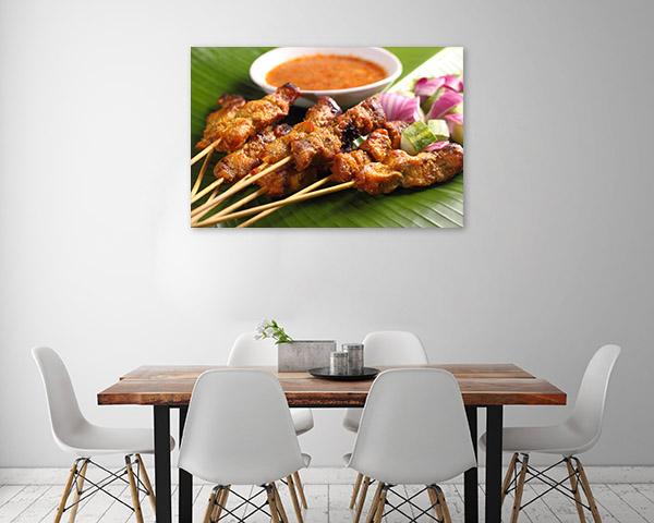 Satay Art Print Closeup Picture Artwork