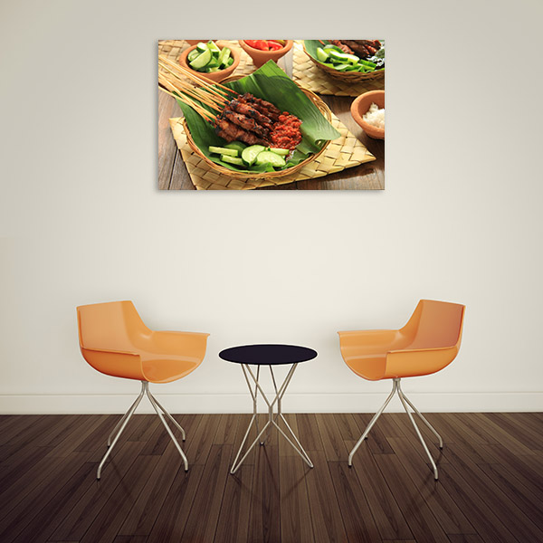 Satay Artwork Canvas Photograph