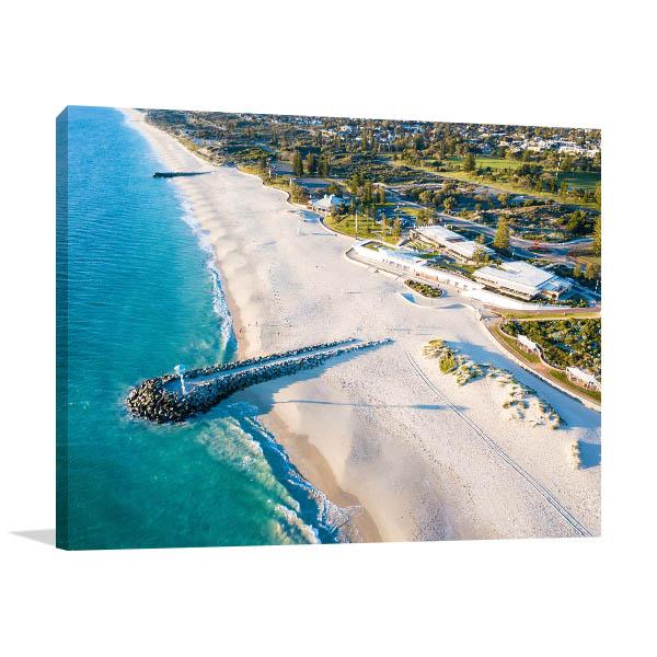 Sea Wall Perth Canvas Art Prints
