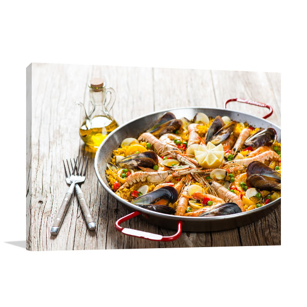Seafood Paella Picture Print