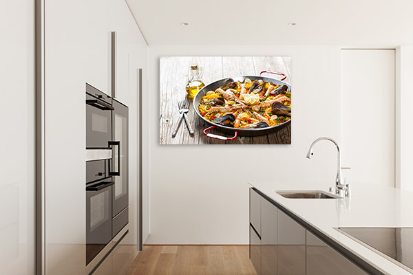 Seafood Paella Wall Canvas