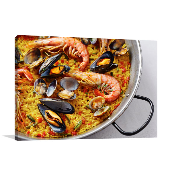 Seafood Paella Canvas Wall
