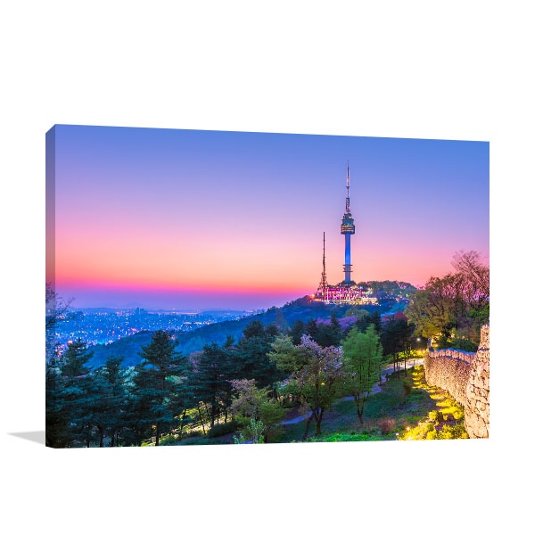 Seoul Art Print Namsan Tower Canvas Photo