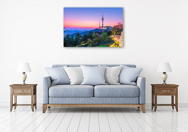 Seoul Art Print Namsan Tower Canvas Artwork